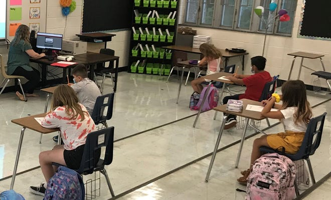 Students in the Randolph County School System, like these at Grays Chapel Elementary, have been rolling along so far with just a few issues related to COVID-19 early in the 2020-21 school year.