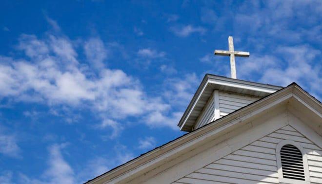 Church cross steeple