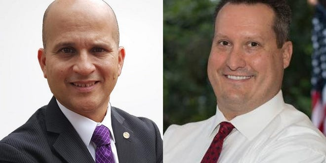 David Santiago, left, and Will Roberts, right, are candidates for Volusia County tax collector on the Aug. 18, 2020, primary ballot.