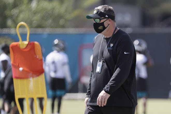 Jaguars head coach Doug Marrone has a lot of roster juggling to do to fix an attrition-maligned defense. (AP Photo/John Raoux)