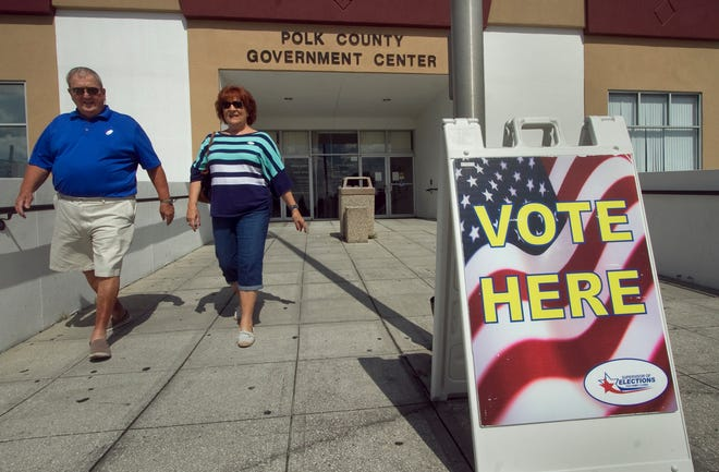 An early-voting site during the 2014 election cycle. The Polk County Supervisor of Elections Office expects high turnout for Tuesday's primary. [THE LEDGER]