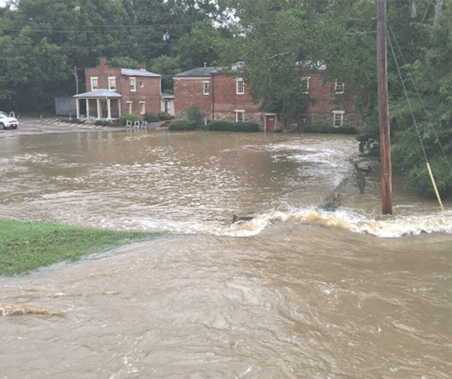 Flooding at the Swift Creek Mill Theatre on Aug. 15 caused major damage to the 17th century building.
