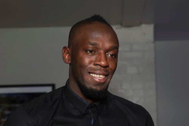 Athlete Usain Bolt is turning 34. [Grant Pollard/Invision/AP]