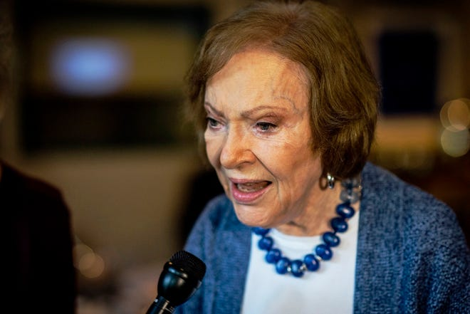 The former First Lady Rosalynn Carter is turning 93. [Ron Harris/The Associated Press]