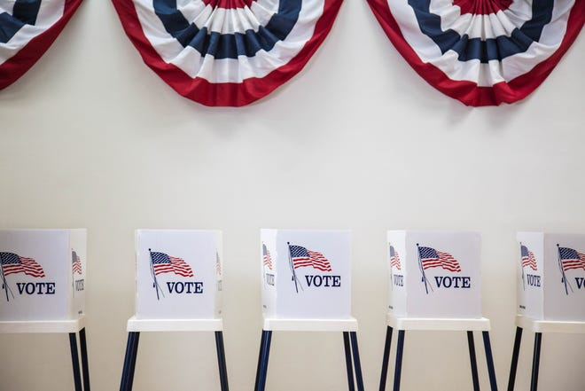 Ardmoreite file photo of voting booths. Oklahomans will vote on SQ 805 in November.
