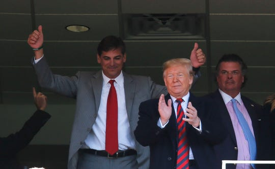 President Donald Trump and his wife Melania were in the house at Bryant-Denny Stadium to watch the Alabama vs LSU game Saturday, Nov. 9, 2019. [Staff Photo/Gary Cosby Jr.]