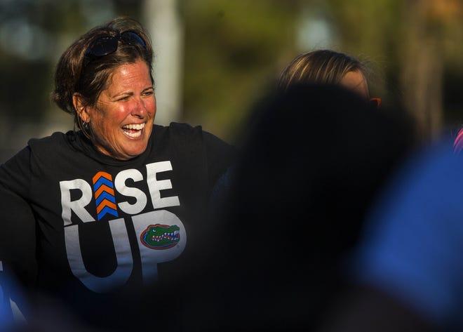 Florida head soccer coach Becky Burleigh. [Cyndi Chambers/Correspondent Gainesville Sun)