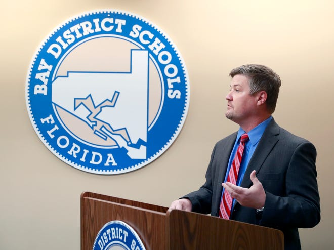 Bay District Schools Executive Director of Operational Support Services Josh Balkom announces that Bay District Schools will officially start fall sports two weeks after the FHSAA approved date, Aug. 24, 2020. He said the delay will help staff put new protocols to combat the spread of COVID-19.