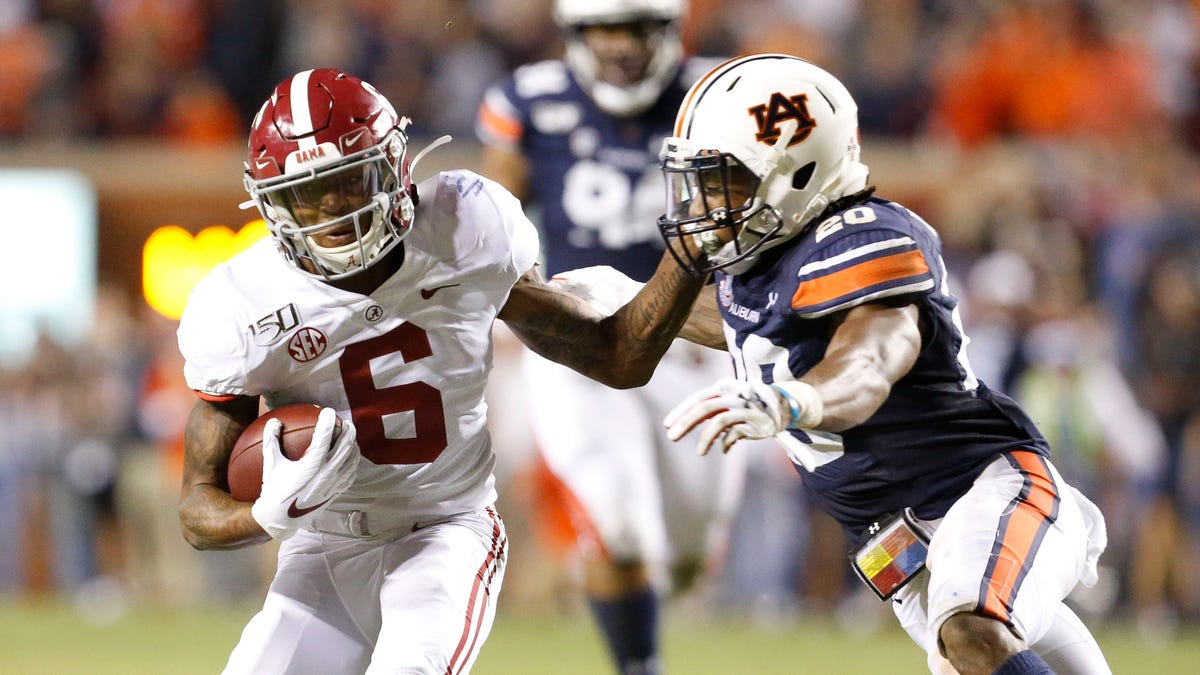 Iron Bowl: What is the No. 1 Alabama vs. No. 19 Auburn football betting line, over/under?