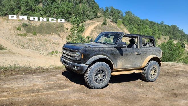 This two-door Bronco got a workout at the Holly track