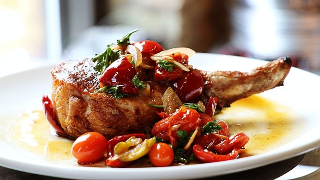 Pork chop with cherry pepper sauce will be a main dish at Sorella, an Italian restaurant debuting Aug. 21 at 2535 S. Kinnickinnic Ave. in Bay View.