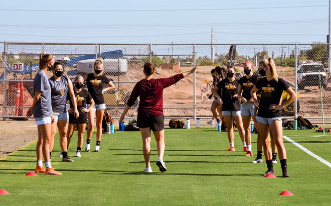ASU soccer practice is underway even though the Sun Devils will not compete until January at the soonest due to the coronavirus pandemic.