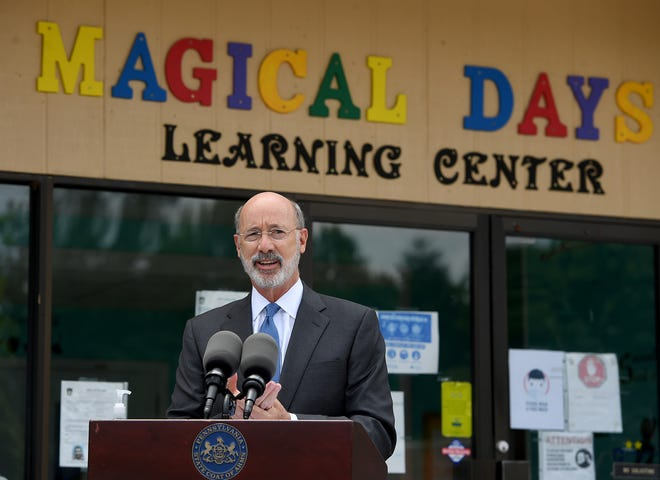 Governor Tom Wolf visits Magical Days Learning Center in West Manchester Township to discuss how the COVID-19 Small Business Assistance Grant program supports small, local businesses that were impacted by the COVID-19 pandemic. This program awards much-needed grants to small main street and historically disadvantaged businesses across the commonwealth. Monday, August 17, 2020John A. Pavoncello photo