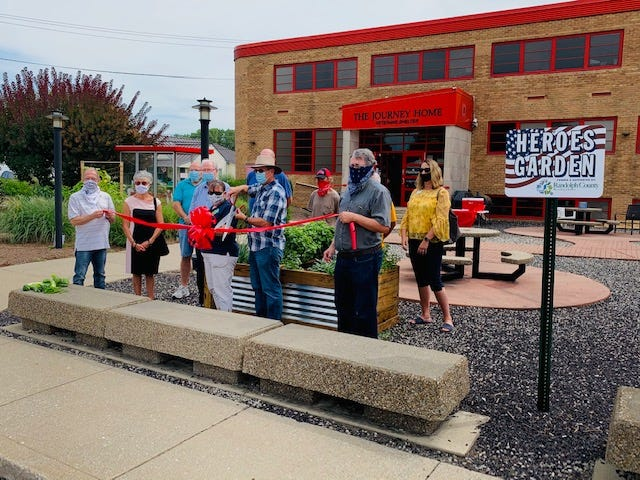 A ribbon-cutting ceremony for the new, grant-funded Heroes Garden was held Aug. 14, 2020, at The Journey Home in Winchester.