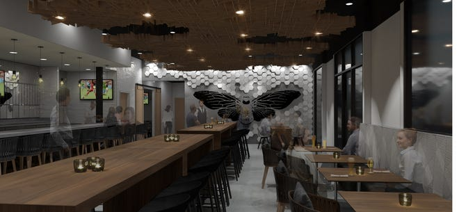 A rendering of the inside of Hive 435, a bar proposed inside the new City View development in downtown St. George. If granted all the proper permits, the upscale bar would be the city's third standalone drinking establishment.