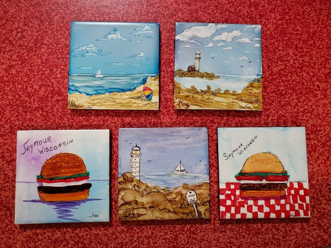 Alcohol paintings challenge Susan Manzke's creativity and artistry.
