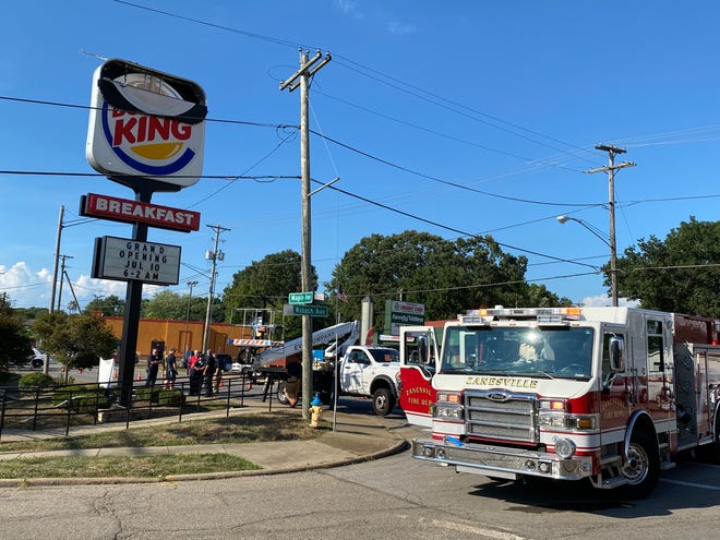 A Geneva, Ohio man was electrocuted while changing a sign at Burger King on Maple Avenue
