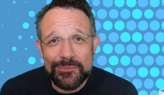 Phil Libin, co-founder of mmHmm, a new filter app for the video conference generation
