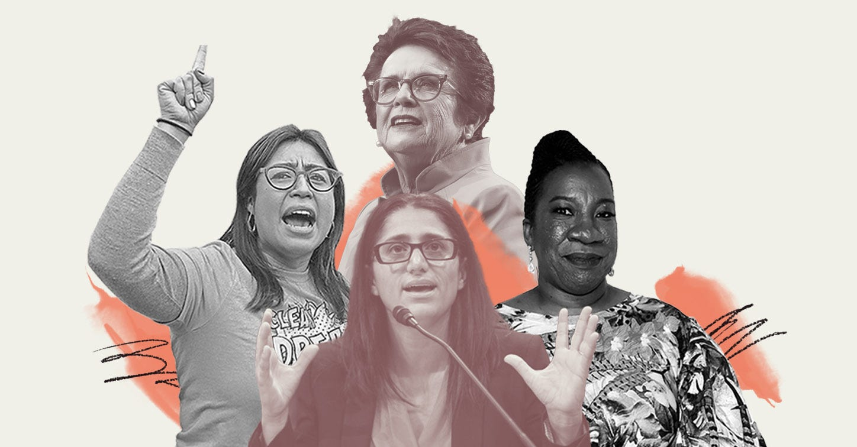 Cristina Jiménez Moreta, Billie Jean King, Tarana Burke and Mona Hanna-Attisha