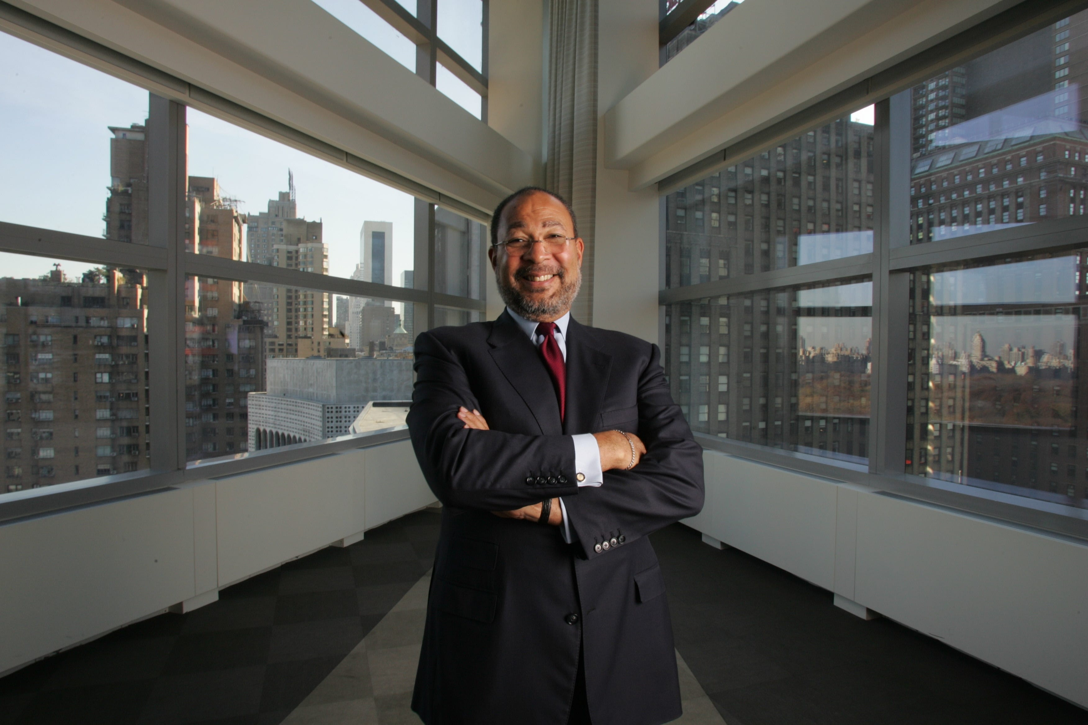 """""""It's not that (Black executives) get overlooked. They don't get looked period,"""" says Dick Parsons, seen here in 2004 when he was CEO of Time Warner."""