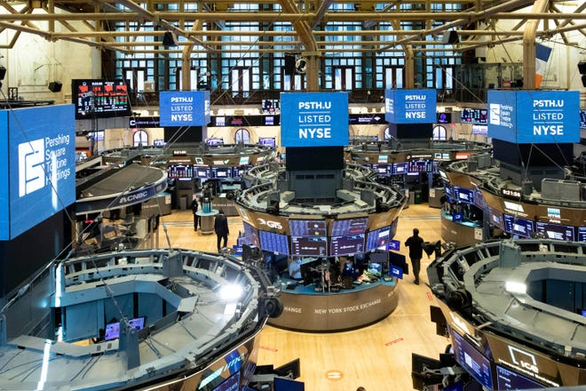 The trading floor of the New York Stock Exchange. (NYSE Photo by Colin Ziemer via AP)