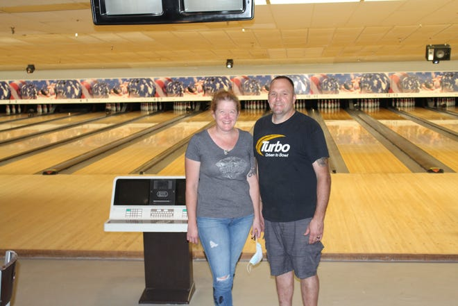 Kiley & Kurt Brockman have installed all new synthetic lanes at Brock's Bowl & Pizzeria during the COVID-19 shutdown, and are working to finish their other renovations this month.