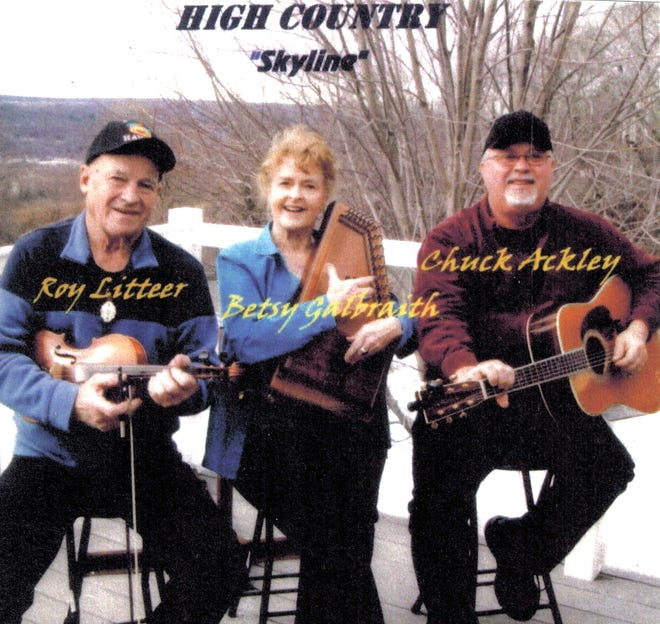 """""""High Country"""" features Roy Litteer of Dundee on fiddle, Chuck Ackley from Montour Falls on guitar and vocals, and Betsy Galbraith from Watkins Glen on autoharp."""