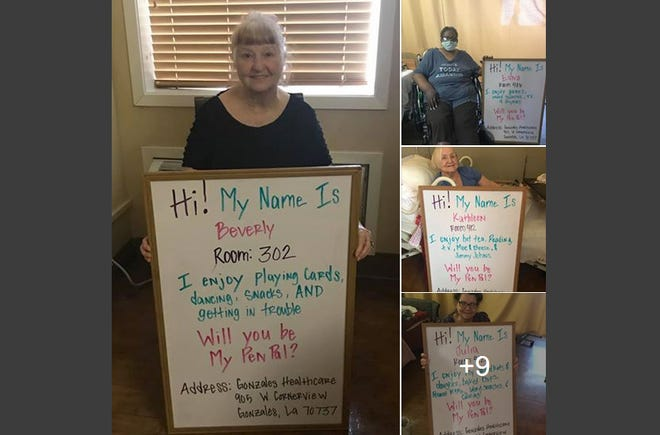 Residents of Gonzales Healthcare Center share their interests with potential pen pals.
