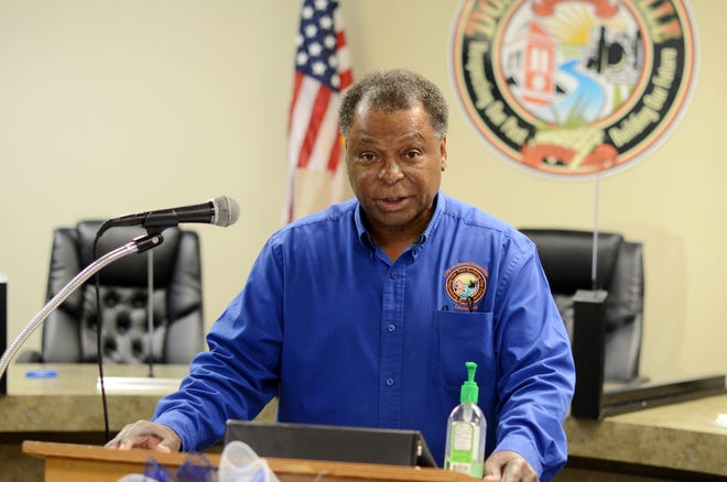 Donaldsonville Mayor Leroy Sullivan gives an update during his bi-weekly COVID-19 live-streamed broadcast.