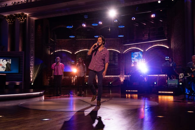 Laine Hardy performs on Huckabee.