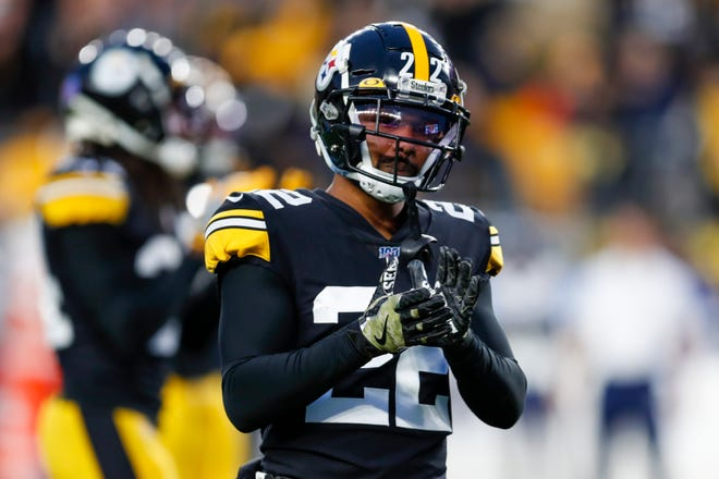 Former Oregon State star Steven Nelson was a big reason why the Pittsburgh Steelers improved to third in the NFL against the pass in 2019 despite missing the playoffs. [AP Photo/Keith Srakocic]