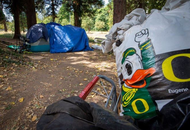 """The Eugene City Council will hold a public meeting later this to month about an ordinance that would direct staff to identify more """"safe parking"""" and """"safe tent"""" sites around the city."""