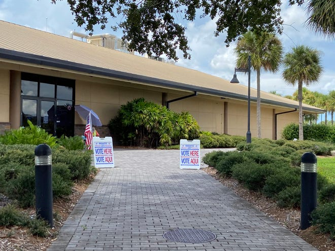 A polling site at the Bradenton Area Convention Center in Palmetto on Tuesday.