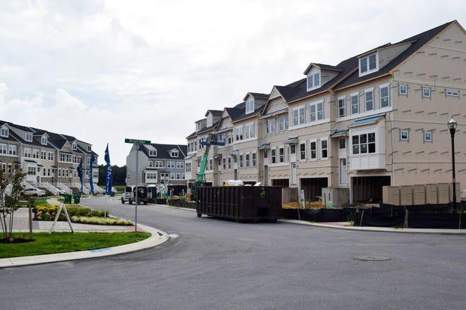 An under-construction portion of North Shore at Plantation Lakes Aug. 13.