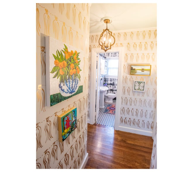 Hallway space designed by Marian Pouch