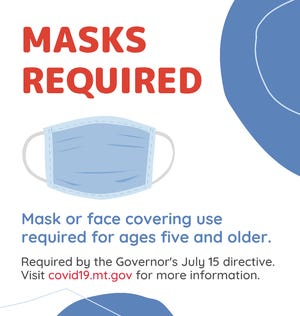 This sign about masks required in Montana is on the state's website.