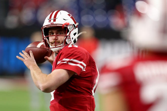 Quarterback Jack Coan has started 18 games for the Badgers.
