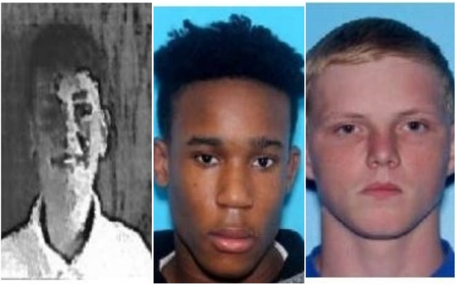Trey Faircloth, Undre Jackson and Landen Bearce were last seen in the area of Cherry Hill Road about 2 a.m. and are believed to be in danger.