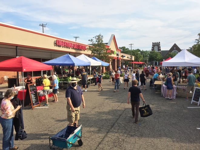 Expanding onto Market Street has allowed the Farmington Farmers Market to offer more space between vendors for a safer shopping experience.