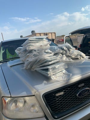 U.S. Customs and Border Protection agents seized more than 245 pounds of methamphetamine concealed in a Ford F-150 at the Border Patrol checkpoint in Salton City on Aug. 15.