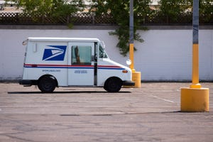 A United States Postal Service delivery truck