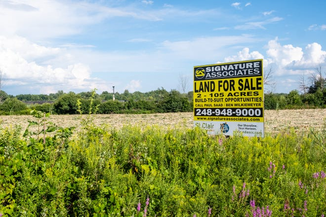 The St. Clair Industrial Park is located near Range and Yankee roads. About 65 acres is being sold to an auto-parts manufacturer.