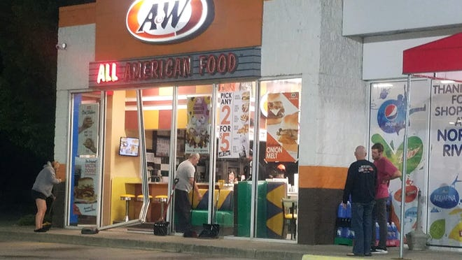 A young driver crashed into the Shell gas station A&W at 3805 Pine Grove Ave. on Monday, Aug. 17, 2020.