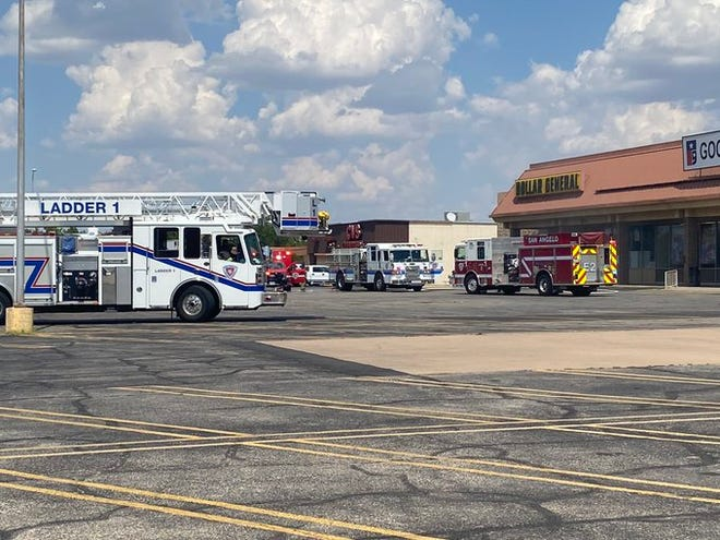 San Angelo Police and firefighters responded to a possible structure fire at Dollar General along S. College Hills Blvd. on Tuesday, Aug. 18, 2020.