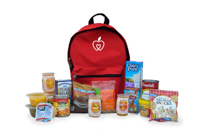 The Weekend Backpack Program provides food-insecure children with an assortment of child-friendly food items to take home every Friday of the entire school year.