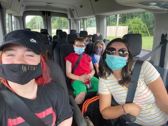 This is from the Salvation Army's summer program. This fall, masks will be needed by everyone riding in Salvation Army vehicles.