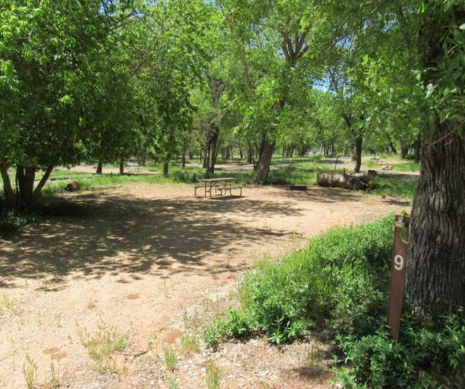 A campsite at Zion's South Campground, which reopened after coronavirus pandemic restrictions on August 16, 2020.