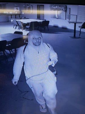 A man seen in the picture is a suspect to a burglary at Waushara Community Church, N2126 22nd Ave., Marion.