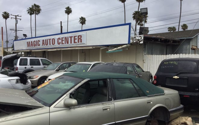 The Magic Auto Center in Oxnard has long been a blighted property along Oxnard Boulevard.