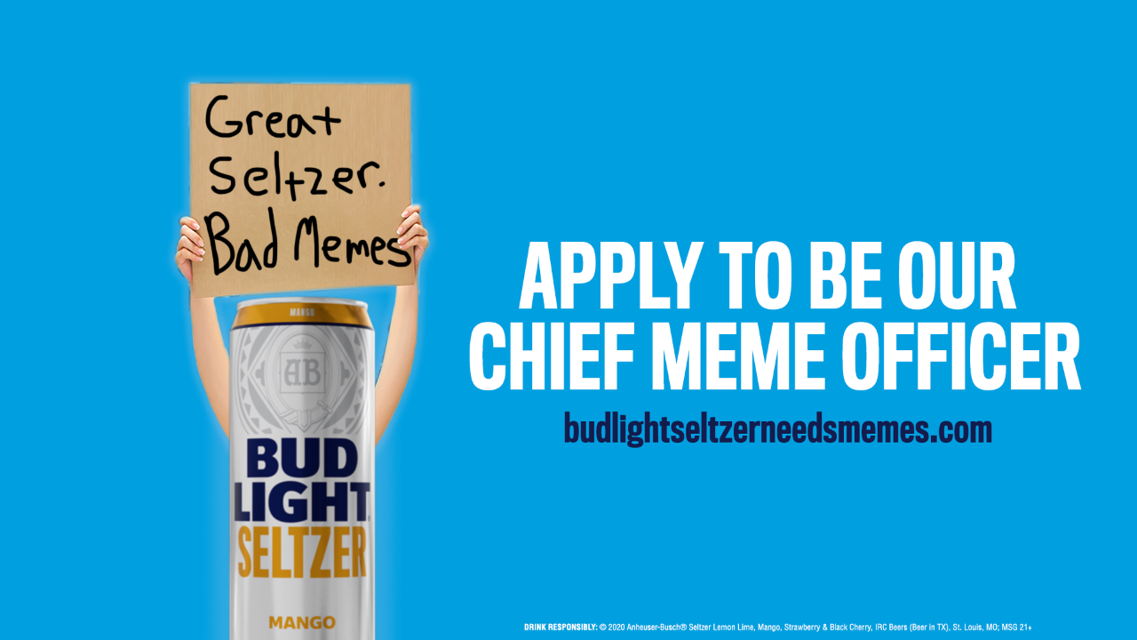 Attention job seekers: Bud Light will pay $5,000 a month for  chief meme officer